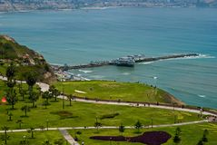 View of Miraflores Park, Lima - Peru royalty free stock images