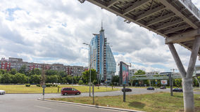 View of Mirage Hotel in Bulgarian Burgas stock photography
