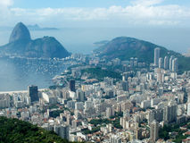 View from Mirante Dona Marta peak. A panoramic view of cityscape from the Mirante Dona Marta peak in Rio de Janeiro, Brazil Stock Images