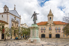 View at the Misericordia church and City hall building in Aveiro - Portugal Royalty Free Stock Photography