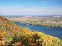 View of Mississippi river in Minnesota at fall Royalty Free Stock Photography