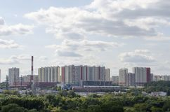 View of the Mitino district Moscow royalty free stock photo