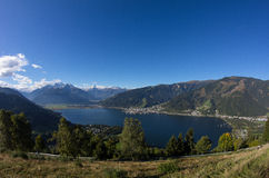 View From Mitterberg To Zell Am See Lake Zell & Kitzsteinhorn Stock Photography