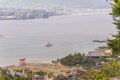 View from Miyajima island, Japan Stock Photo