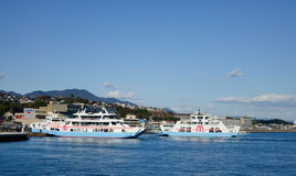 View of Miyajimaguchi ferry-port, Japan Royalty Free Stock Photography