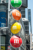 View of the MM Store located in Times Square, NYC, NY on June 18, 2016 Royalty Free Stock Photography