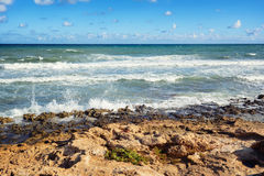 View of moderate Mediterranean sea, Spain, Europe Royalty Free Stock Photo
