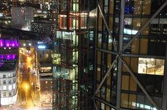 Modern Architecture in Southwark, London. View of Modern Architecture at night in Southwark, south London, UK royalty free stock photos