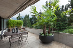 View of a modern balcony Royalty Free Stock Image
