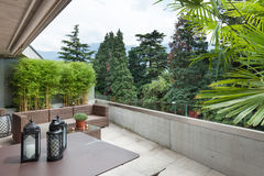 View of a modern balcony Stock Image