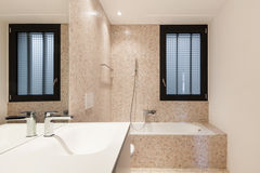 View modern bathroom Stock Images
