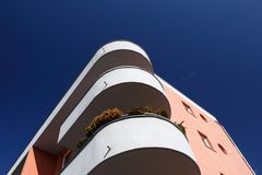 View of a modern building with balconies Royalty Free Stock Photography