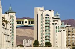 View on a modern building in Eilat, Israel Royalty Free Stock Photo