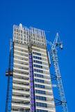 View of modern building under contruction Royalty Free Stock Images