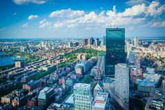 View of modern buildings in Back Bay, in Boston, Massachusetts. Royalty Free Stock Photos