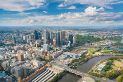 View of modern buildings in Melbourne, Australia. Melbourne, Australia - Mar 17, 2016: View of modern buildings in Melbourne CBD in daytime Stock Photo