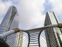 View of modern buildings in Sathorn Stock Photo