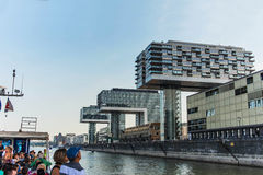 View of modern buildings on the waterfront cologne. Stock Image