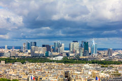 View of the modern business district of Paris - La Defense from Royalty Free Stock Image
