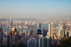 View of the modern city. And the river stock photography