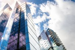 View of Modern Glass Office buildings against the Sky Royalty Free Stock Photos
