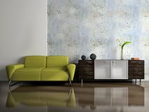 View on the modern interior Royalty Free Stock Photo
