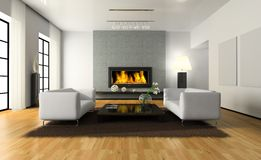 View on the modern interior Royalty Free Stock Images