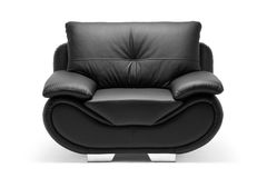 A view of a modern leather chair Stock Photography