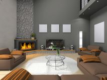 View on the modern living-room Stock Image