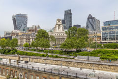 View of modern London from the Tower of London Stock Photos