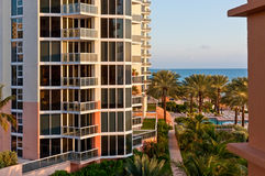 View of Modern Luxury building and Atlantic coast in Miami Royalty Free Stock Image
