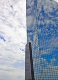 View at modern office building with blue sky and clouds in Rotterdam, The Netherlands Stock Images