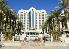 View on modern resort hotels of Eilat, Israel Royalty Free Stock Photography
