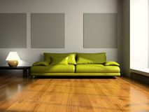 View on the modern room Royalty Free Stock Photo