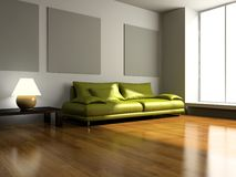 View on the modern room Royalty Free Stock Images