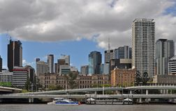 View of the modern skyline of downtown Brisbane stock image