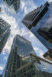 View of modern skyscrapers in the City of London Royalty Free Stock Photography