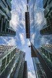 View of modern skyscrapers in the City of London Stock Image