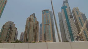 View of modern skyscrapers in Dubai Marina stock video