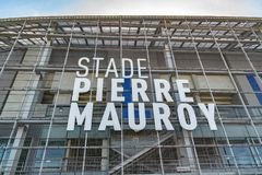 View of the modern stadium of the Losc football club. royalty free stock photos