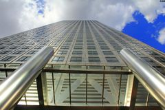 Modern tall building Canary Wharf London United Kingdom Stock Photography