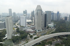 View of the modern urban skyline. With numerous skyscrapers Stock Photos