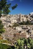 View of modica town in sicily italy Stock Photo