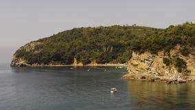 View on Mogren beach, Budva, Montenegro, timelapse stock footage