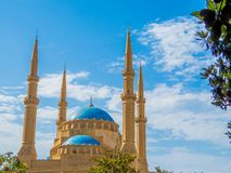 Mohammad Al-Amin Mosque in Beirut, Lebanon. View of the Mohammad Al-Amin Mosque in Beirut, Lebanon Stock Images