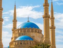 Mohammad Al-Amin Mosque in Beirut, Lebanon. View of the Mohammad Al-Amin Mosque in Beirut, Lebanon Stock Image