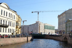 View of Moika Canal. Royalty Free Stock Image