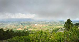 View from the mointain in Spain. Royalty Free Stock Photo