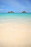 View of Mokolua Islands, Lanikai Beach Oahu Royalty Free Stock Photography