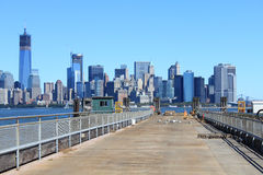 View from mole at New Jersey. New York, USA stock image